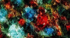 Zusammenfassung farbiger psychedelischer Schmutzhintergrund mit Beschaffenheit von chaotisch unscharfen Stellen und von Farbenans lizenzfreie abbildung