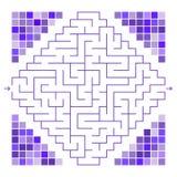 Zusammenfassung farbiges Labyrinth verziert mit Mosaik Ein interessantes Spiel für Kinder und Jugendliche Einfaches flaches Vekto Vektor Abbildung