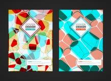 Zusammenfassung farbiges Mosaik für Hintergrund Stockfotografie