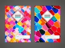 Zusammenfassung farbiges Mosaik für Hintergrund Stockfotos
