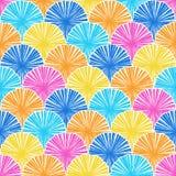 Zusammenfassung farbiges nahtloses Muster Vektor Lizenzfreie Stockfotos