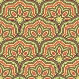 Zusammenfassung farbiges orientalisches nahtloses Muster stock abbildung