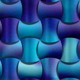 Zusammenfassung gerundete Blöcke gestapelt für nahtlosen Hintergrund - Dekorationsmaterial - bläuliche Oberfläche lizenzfreie abbildung