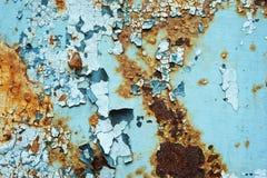 Zusammenfassung korrodierte Wand-Schalenfarbe des bunten Tapetenschmutzhintergrundeisens rostige künstlerische Stockfoto