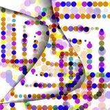 Zusammenfassung kreist Illustration, buntes digitales ein Stockfoto