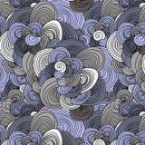 Zusammenfassung kritzelt nahtloses Muster Stockfoto