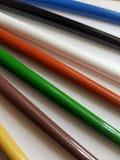 Zusammenfassung mit farbigen Bleistiften, Hintergrund und Beschaffenheit Stockfotografie