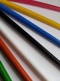 Zusammenfassung mit farbigen Bleistiften, Hintergrund und Beschaffenheit Lizenzfreie Stockfotos