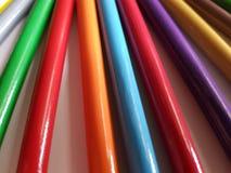 Zusammenfassung mit farbigen Bleistiften, Hintergrund und Beschaffenheit Lizenzfreies Stockbild
