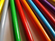 Zusammenfassung mit farbigen Bleistiften, Hintergrund und Beschaffenheit Stockfoto