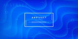 Zusammenfassung, moderner, dynamischer, modischer blauer Hintergrund für Plakate, Fahnen, Webseiten, Titel und anderer lizenzfreie abbildung