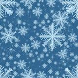Zusammenfassung nahtlos mit Schneeflocken Weihnachten lizenzfreie abbildung