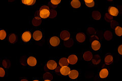 Zusammenfassung orange Kreis-bokeh Hintergrundes Lizenzfreie Stockfotos