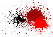 Zusammenfassung plätschern blutroten schwarzen Farbhintergrund Lizenzfreies Stockbild