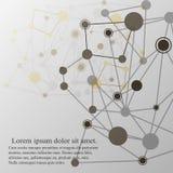 Zusammenfassung polygonal mit Verbindungspunkten und Linien Lizenzfreie Stockfotos