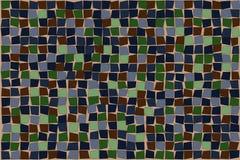 Zusammenfassung quadriert Hintergrundmuster im Grün, im Blau und im Umber Lizenzfreies Stockbild