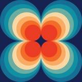 Zusammenfassung Retro- nahtlose Backround-Orange auf dem dunkelblaue Weinlese-nahtlosen Muster, das Muster wiederholt lizenzfreie abbildung