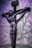 Zusammenfassung Rose Jesus Patterns mit vibrierenden Farben lizenzfreies stockbild