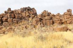 Zusammenfassung schaukelt Giants-Spielplatz, Keetmanshoop, Namibia Lizenzfreie Stockbilder