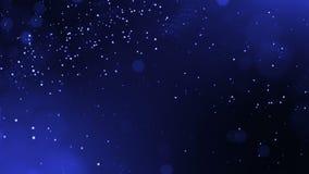 Zusammenfassung schlang dynamische Zusammensetzung von leuchtenden Partikeln wie Girlandenfliege in einer Luft Abstrakter Partike lizenzfreie abbildung