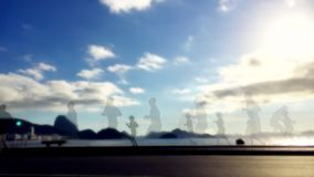 Zusammenfassung silhouettiert Rio de Janeiro stock video