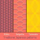 Zusammenfassung traditionelle japanische petterns für Druckentwurf lizenzfreies stockfoto