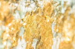 Zusammenfassung unscharfe Beschaffenheit des Goldblattes Stockbild