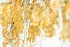 Zusammenfassung unscharfe Beschaffenheit des Goldblattes Lizenzfreies Stockbild