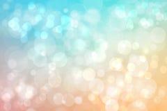 Zusammenfassung unscharfe klarer Frühlingssommer helle empfindliche blaue orange bokeh Hintergrundpastellbeschaffenheit mit helle lizenzfreie abbildung