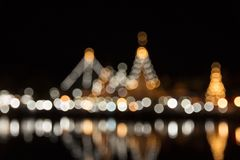 Zusammenfassung unscharfe Lichter nachts Stockfotografie