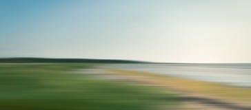 Zusammenfassung unscharfe Seelandschaft Lizenzfreie Stockfotos