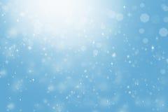 Zusammenfassung unscharfer blauer Hintergrund, Licht, Sterne, bokeh lizenzfreie stockfotos