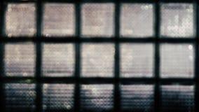 Zusammenfassung unscharfer Hintergrund der Glasblockwand 16:9 Stockfoto