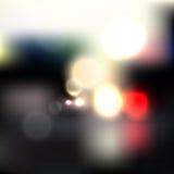 Zusammenfassung unscharfer Hintergrund mit Lichtern Stockfotos