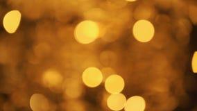 Zusammenfassung unscharfer Weihnachtslichter Bokeh-Hintergrund Funkelnde Blinkenchristbaumkerzen Kopieren Sie Raum für Ihren Text stock video