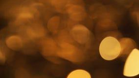 Zusammenfassung unscharfer Weihnachtslichter Bokeh-Hintergrund Funkelnde Blinkenchristbaumkerzen Kopieren Sie Raum für Ihren Text stock video footage