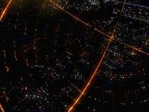 Zusammenfassung verbundener heller Dots On Dark Background Stockbild