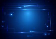 Zusammenfassung zeichnet digitales High-Teches Konzept der Leiterplatte-Technologie Lizenzfreie Stockbilder