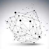 Zusammenfassungs-Designschablone des Vektors 3D, polygonal Lizenzfreies Stockfoto