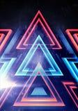 Zusammenfassungs-künstlerische moderne computererzeugte Wiedergabeillustration 3d einer mehrfarbigen Digital-Dreieck-Grafik auf b stock abbildung
