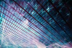 Zusammenfassungs-künstlerischer bunter rauchender Block-Grafikhintergrund lizenzfreie abbildung