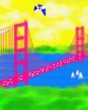 Zusammenfassungs-Malerei Sans Francisco California Golden Gate Bridge Lizenzfreies Stockfoto