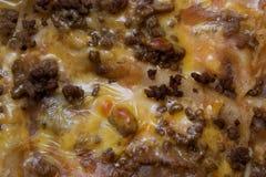 Zusammenfassungs-nahes Detail-mexikanische Lebensmittel-Enchiladas Lizenzfreie Stockfotos