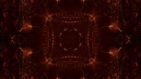 Zusammenfassungs-Partikelanimation der Schleife 3d mit Glühenpartikeln wie Weihnachten oder Girlande oder Funken des neuen Jahres stock abbildung