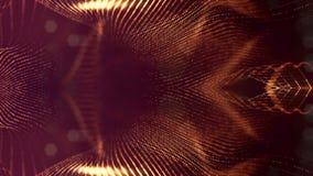 Zusammenfassungs-Partikelanimation der Schleife 3d mit Glühenpartikeln wie Weihnachten oder Girlande oder Funken des neuen Jahres lizenzfreie abbildung