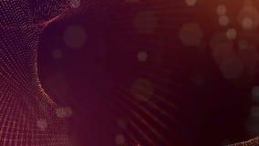 Zusammenfassungs-Partikelanimation der Schleife 3d mit Glühenpartikeln wie Weihnachten oder Girlande oder Funken des neuen Jahres vektor abbildung