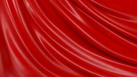 Zusammenfassungs-roter Hintergrund-Stoff der Illustrations-3D stock abbildung