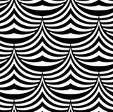 Zusammenfassungs-Wellen und Spitzen-Vektor-nahtloses Muster Lizenzfreie Stockfotografie