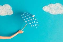Zusammenfassungsebenen-Lagekonzept des schlechten Wetters Stockfotos