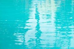 Zusammenfassungshintergrund des blauen Wassers im Freien Stockbilder